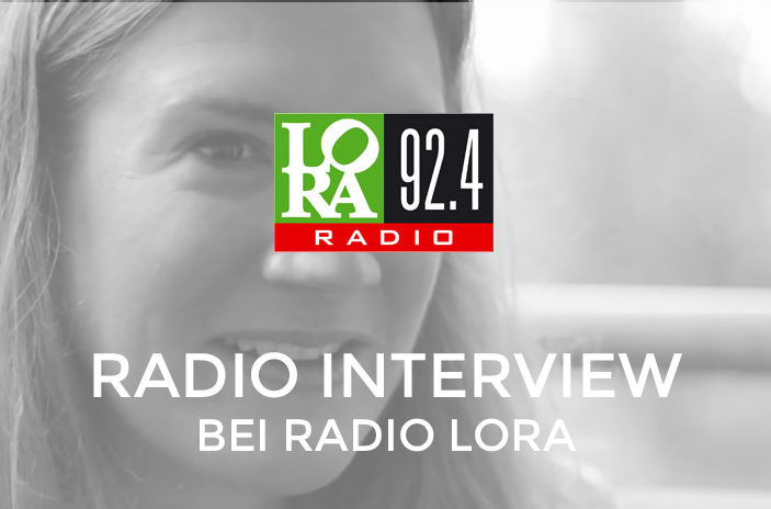 Portrait Marlene mit Text Radio Interview bei Radio Lora